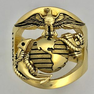 Custom Gold Marine Corps Rings
