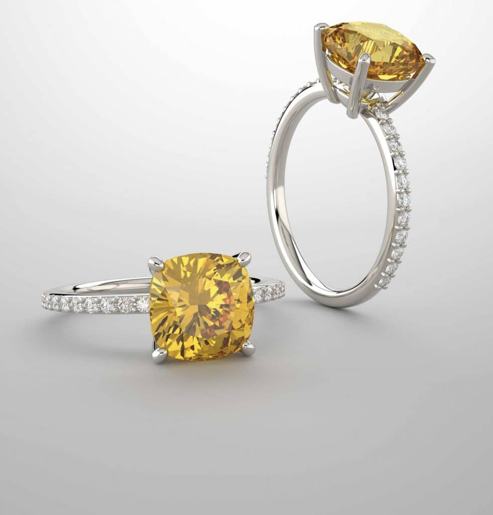 Beautiful Yellow Diamond Engagement Rings