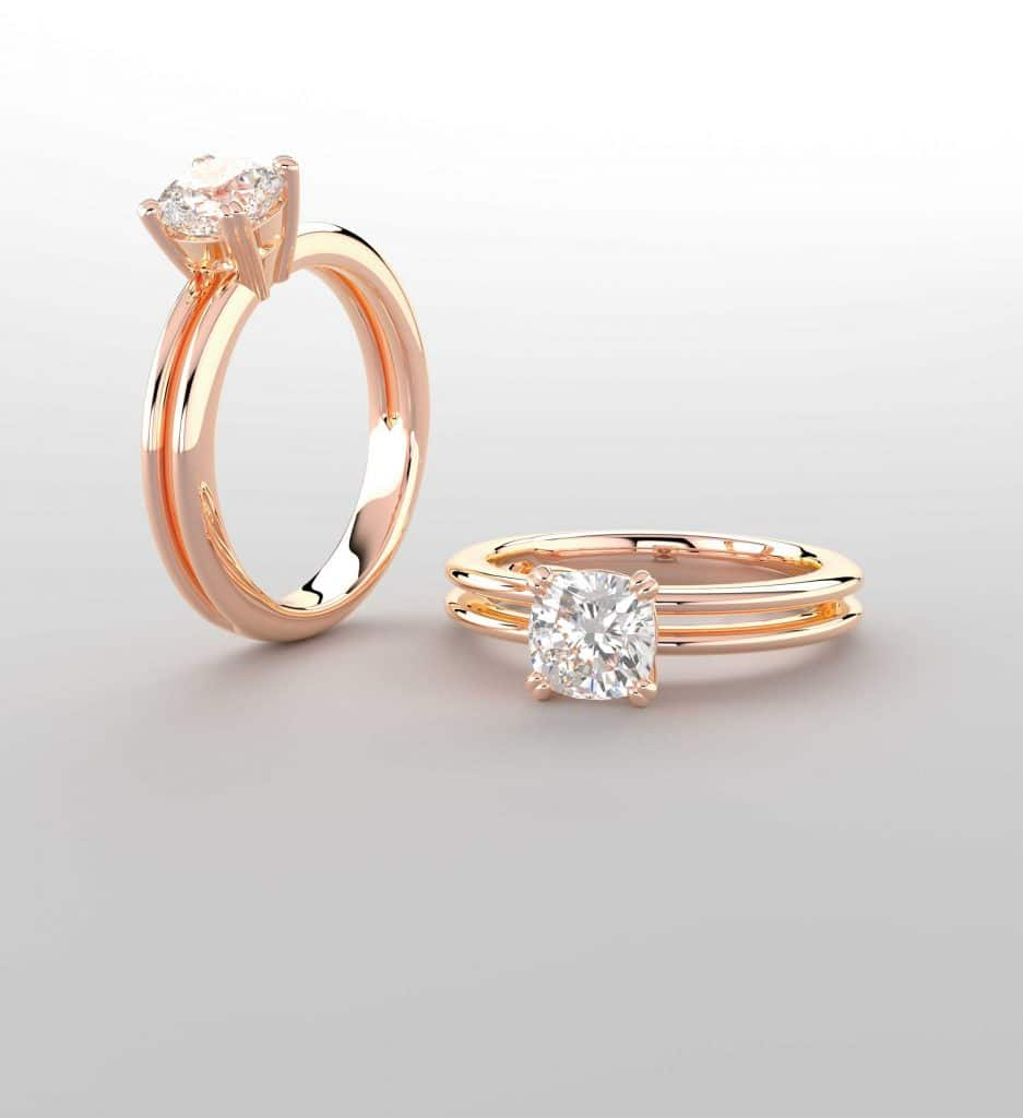Custom Rose Gold Engagement Rings